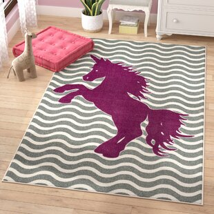 Best Reviews Heimbach Majestic Unicorn Royal Area Rug ByViv + Rae