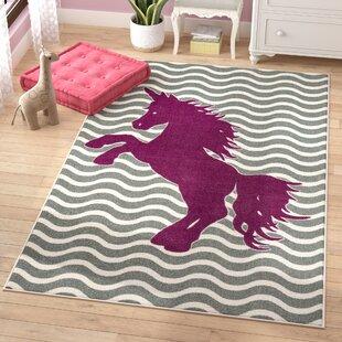 Best Heimbach Majestic Unicorn Royal Area Rug ByViv + Rae