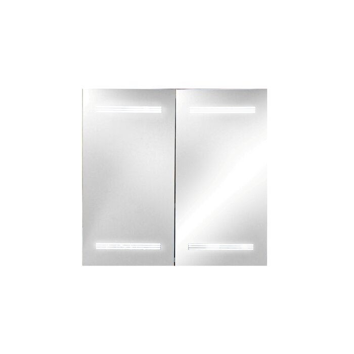 Aria 26  x 24.8  Surface Mount Medicine Cabinet with LED Lighting  sc 1 st  Wayfair.ca & MTDVanities Aria 26