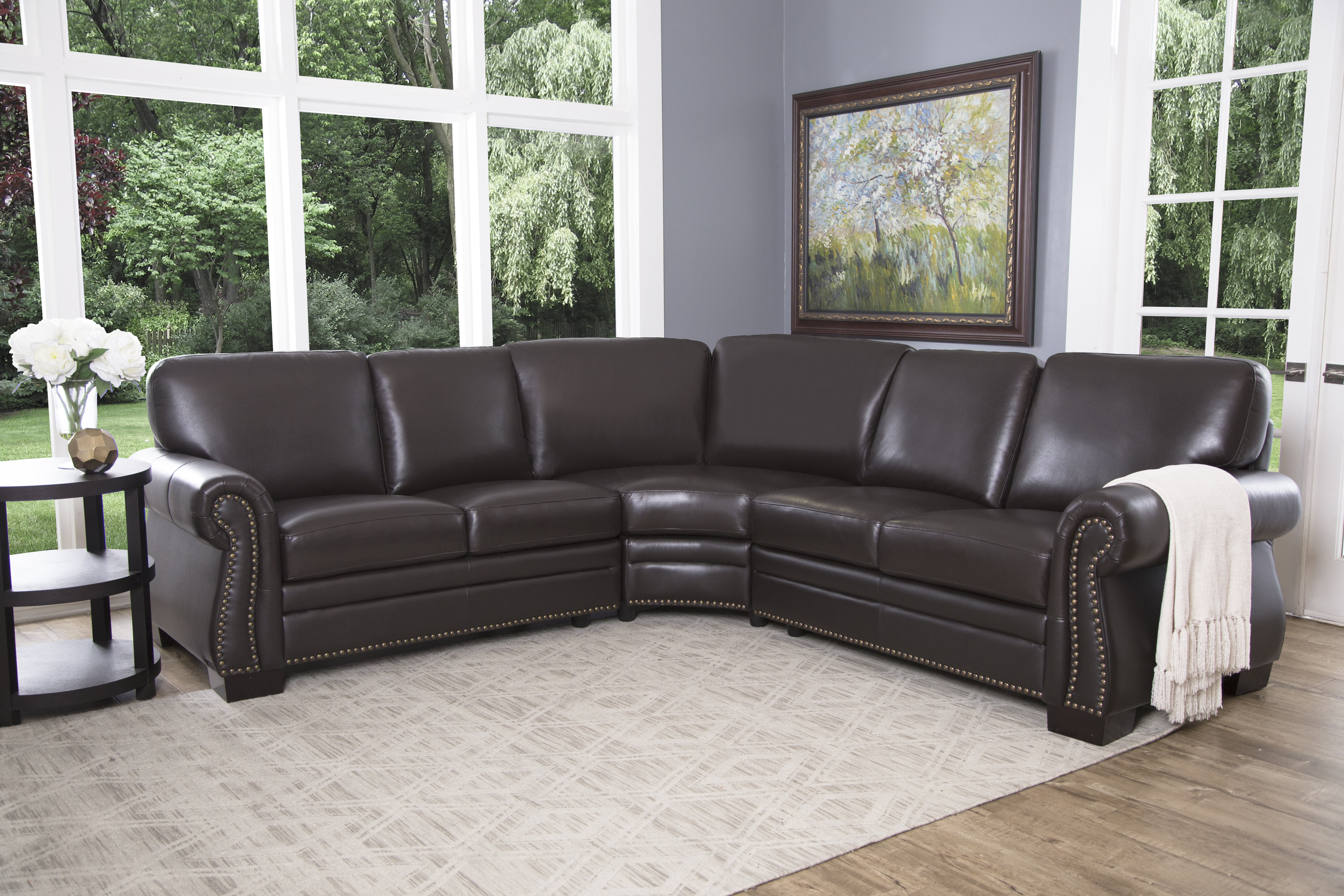 Curved Leather Sectionals You\'ll Love in 2019 | Wayfair
