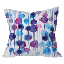 Cmykaren Abstract Watercolor Indoor/Outdoor Throw Pillow