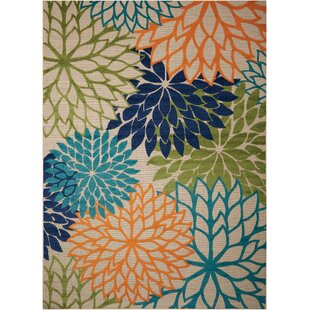 Nathalie Cream Indoor Outdoor Area Rug