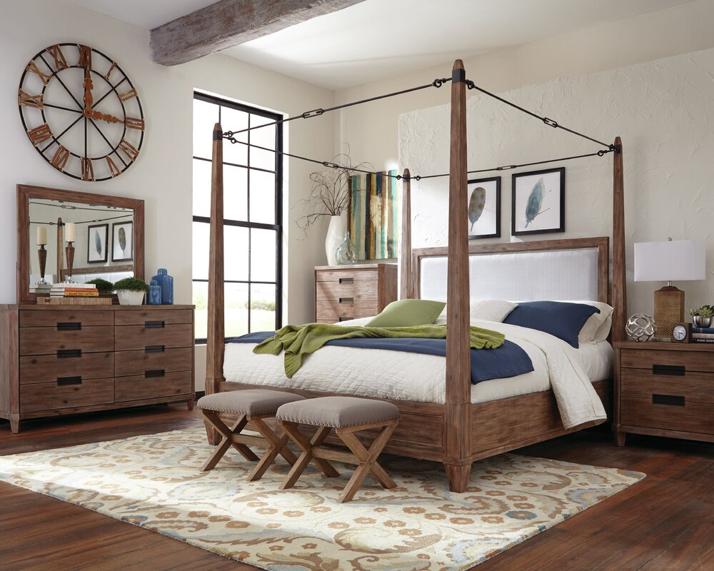 Donny Osmond Madeleine Upholstered Canopy Bed Amp Reviews