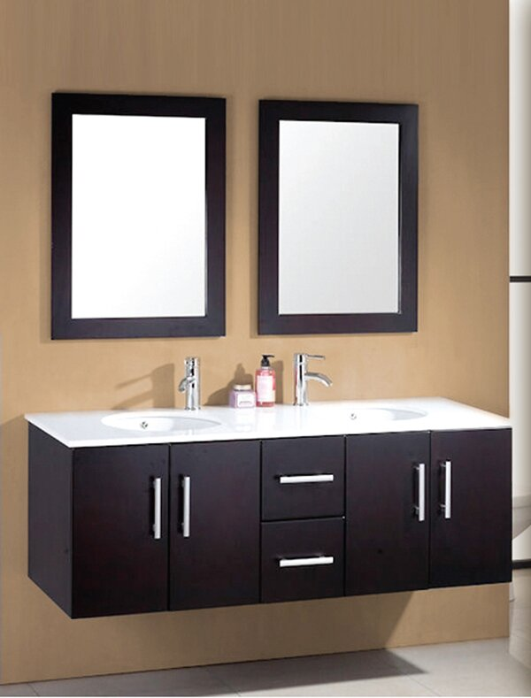 Sycamore 58 Double Bathroom Vanity Set With Mirror