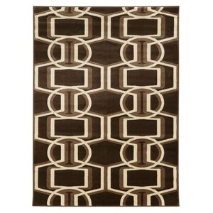 Danby Chocolate/Beige Area Rug