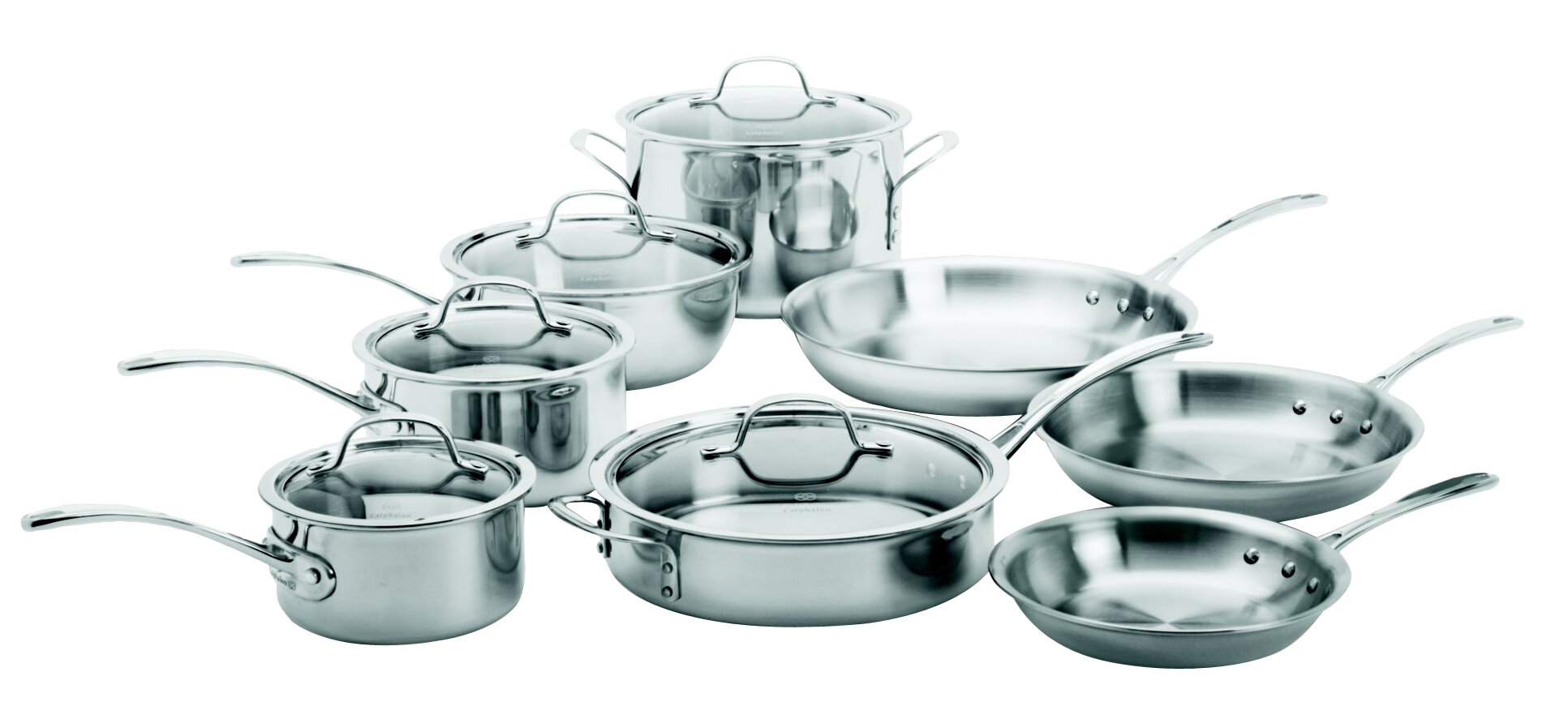 Calphalon Tri-Ply Stainless Steel 13 Piece Cookware Set & Reviews ...