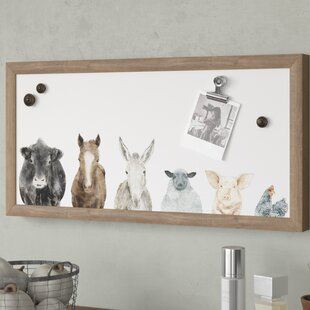 Farm Animals Wall Mounted Magnetic Board