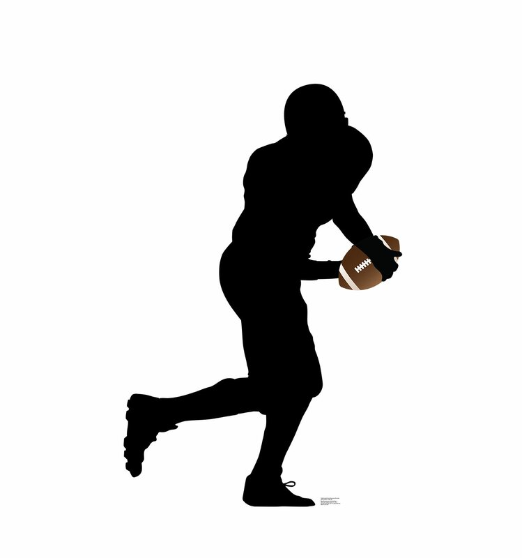 football player running silhouette standup