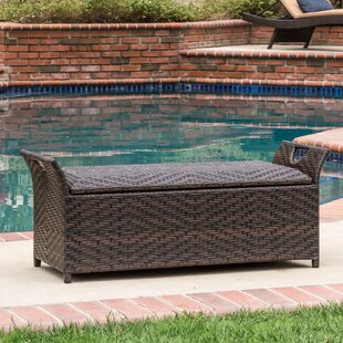 Quinto Wing Wicker Storage Bench