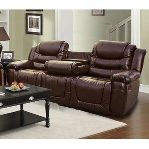 Ottawa Leather Reclining Sofa by Beverly Fine Furniture