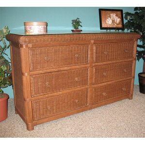 Pavilion 6 Drawer Double Dresser by Wicker Warehouse
