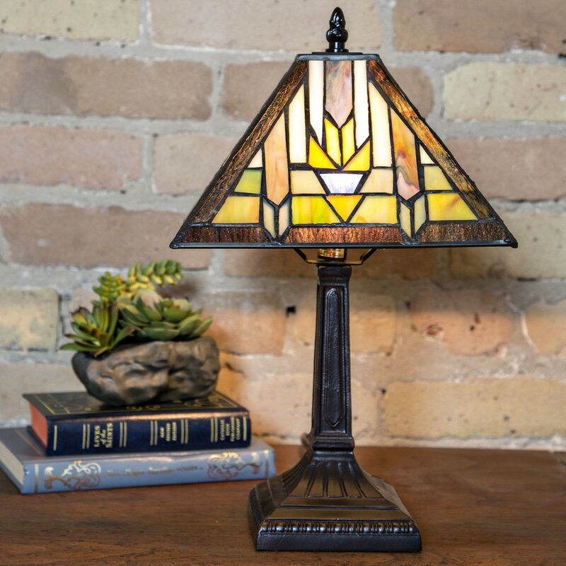 Loon peak junie mission style stained glass 1525 table lamp junie mission style stained glass 1525 table lamp aloadofball Images