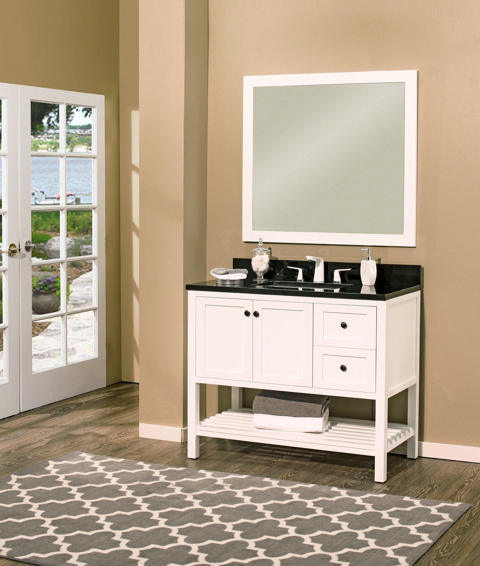 Ngy Stone Cabinet Hampton Bay 42 Single Bathroom Vanity With Mirror Wayfair