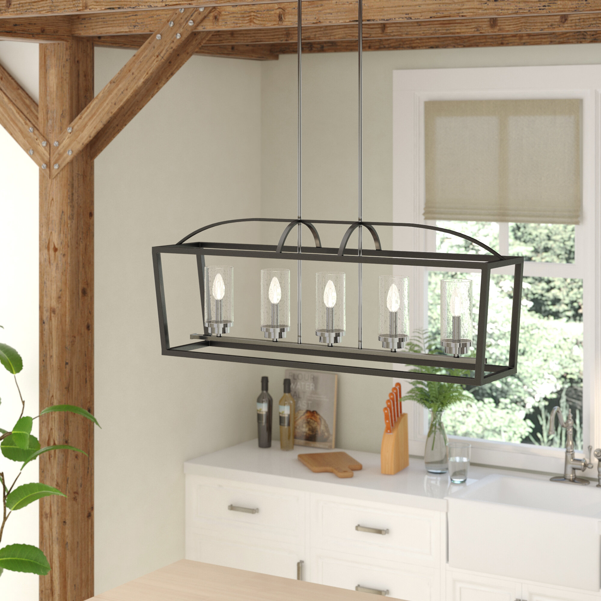 Etonnant Laurel Foundry Modern Farmhouse Luna 5 Light Kitchen Island Pendant U0026  Reviews | Wayfair