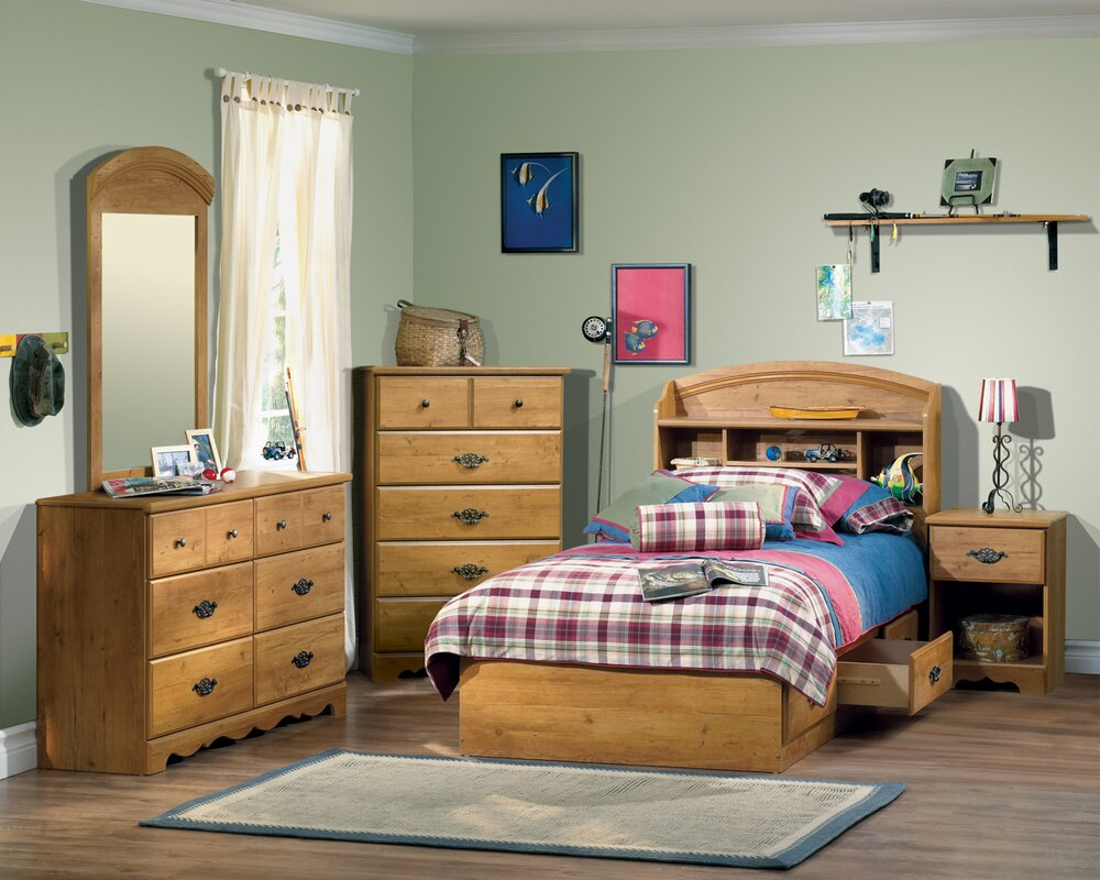 Prairie Twin Mate's Bed with Storage