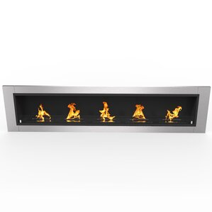 Fernande Ventless Built-in Recessed Wall Mounted Bio-Ethanol Fireplace by ..