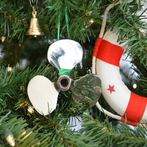 RMS Titanic Brass Propeller Christmas Tree Ornament