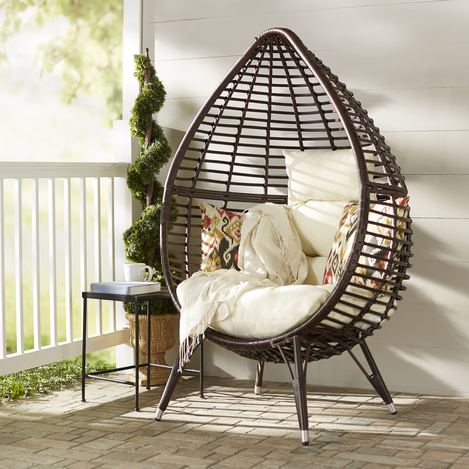 Prime Teardrop Patio Chair With Cushions Home Interior And Landscaping Palasignezvosmurscom