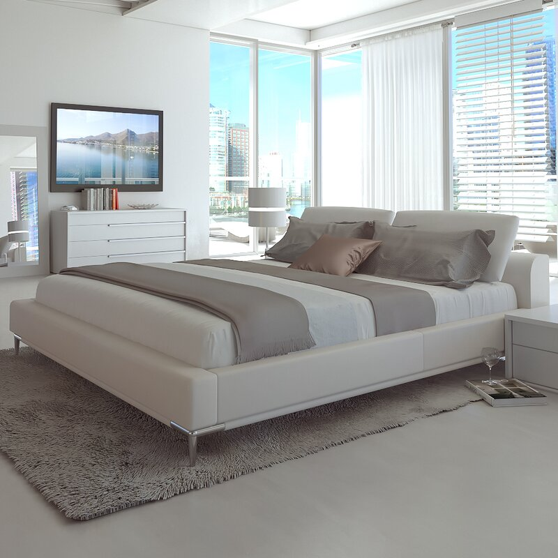 Delicieux Contemporary Upholstered Platform Bed