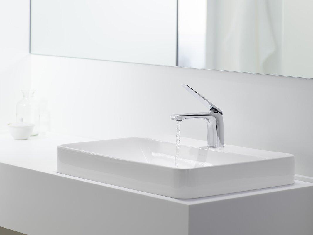 kohler vox rectangular vessel bathroom sink  reviews  wayfair - defaultname