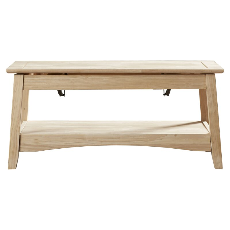 Wood Lift Top Coffee Tables: International Concepts Unfinished Wood Bombay Coffee Table