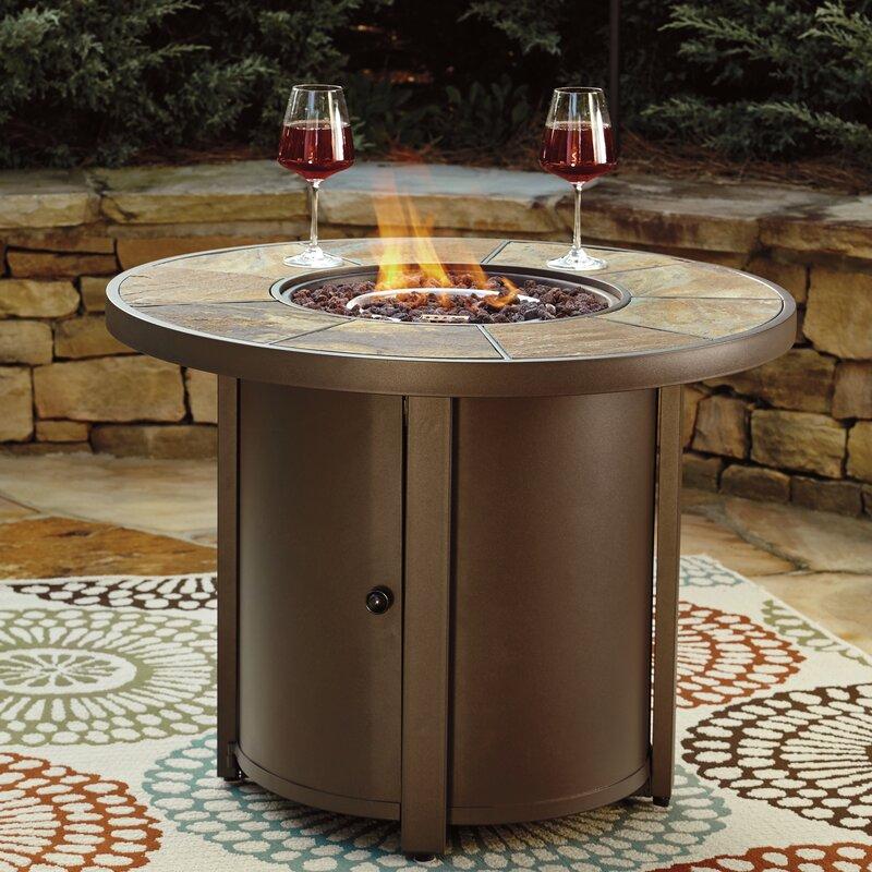 Thelma Aluminum Propane Fire Pit Table