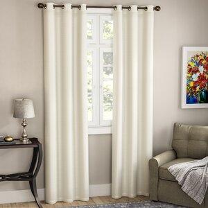 Edison Solid Blackout Grommet Curtain Panels (Set of 2)