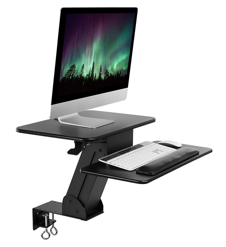 Kelch Ergonomic Height Adjule Tabletop Standing Desk Converter With Clamp