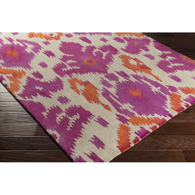 Gioia Hand Tufted Pink Orange Area Rug Joss Main