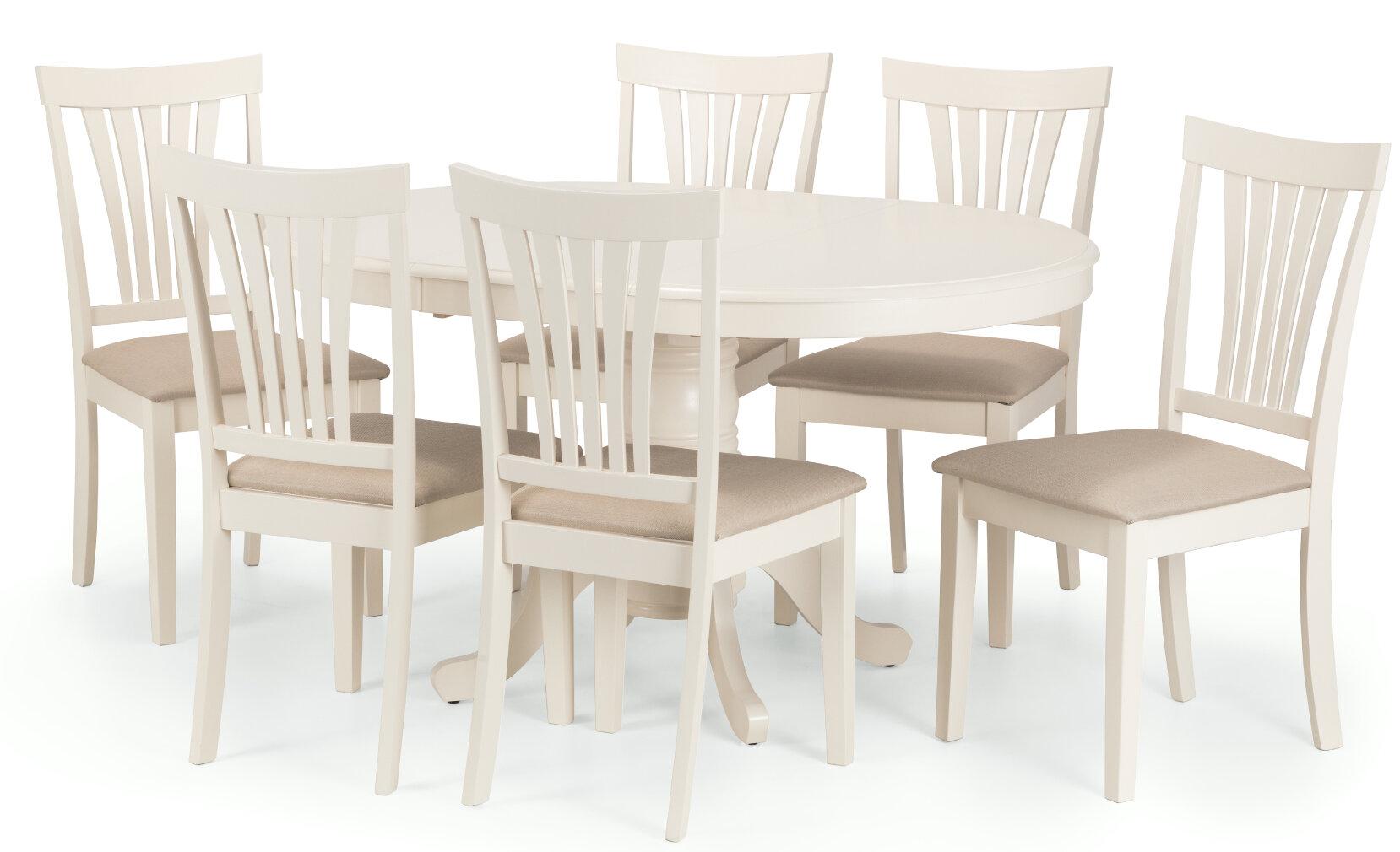 Brambly Cottage Essgruppe Holmes Mit Ausziehbarem Tisch Und 4