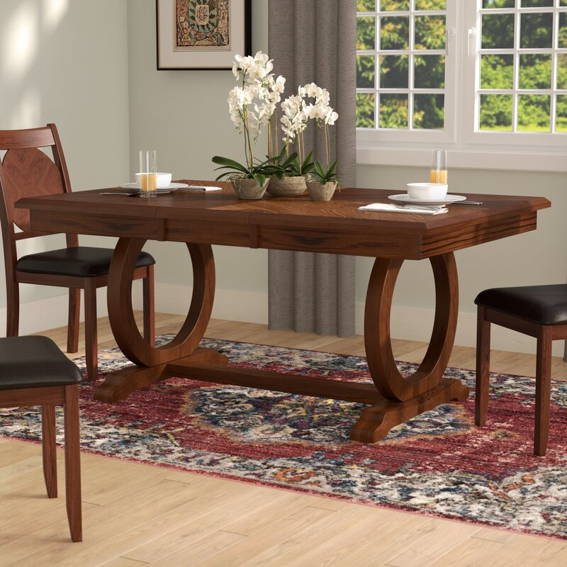 World Menagerie Kapoor Extendable Dining Table Amp Reviews