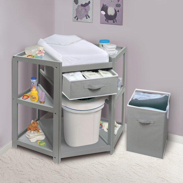badger basket diaper corner baby changing table reviews wayfair. Black Bedroom Furniture Sets. Home Design Ideas