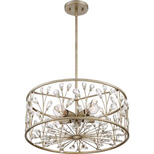 gold leaf chandelier iron mccaulley 5light crystal chandelier gold leaf wayfair