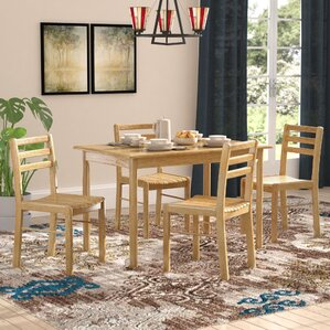 Argyle 5 Piece Dining Set (Set of 5) by Red Barr..