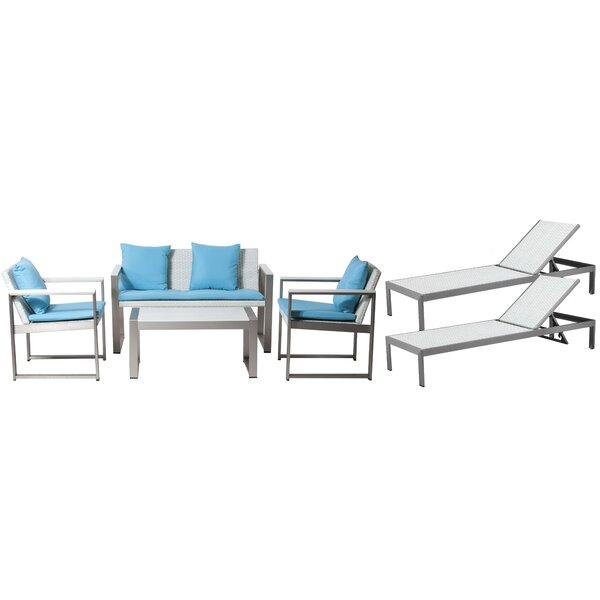 Rosecliff Heights Van Buren 6 Piece Sofa Set With Cushions U0026 Reviews |  Wayfair