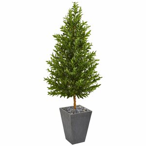 Cone Artificial Olive Tree in Planter