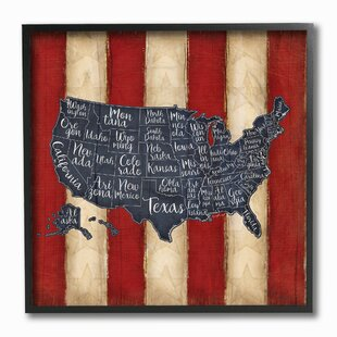 United States Map Wall Art Wayfair - United states map picture frame