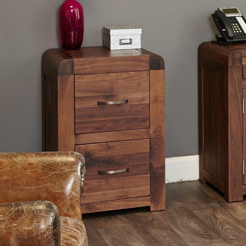 Shiro Walnut Range 2 Drawer Vertical Filing Cabinet