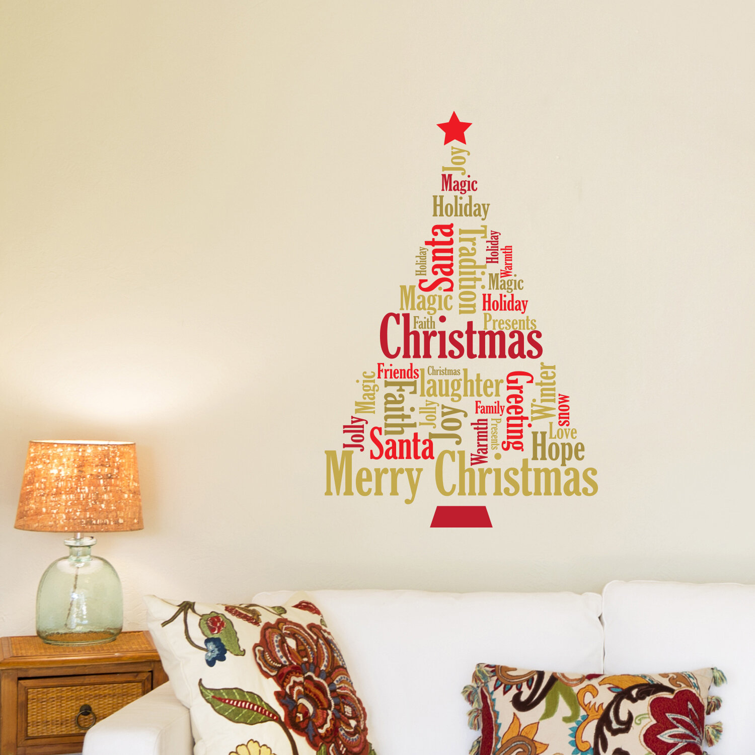 English Quote Christmas Tree Wall Decal