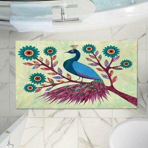 Peacock Memory Foam Bath Rug