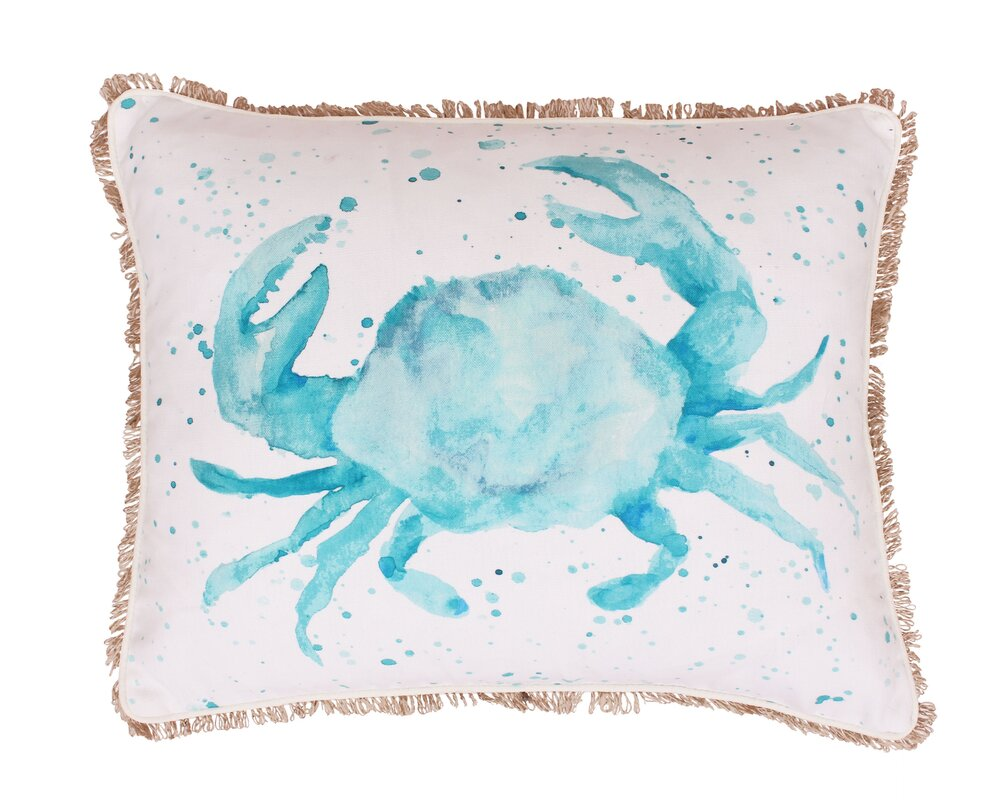 Thro by Marlo Lorenz Coastal Carmello Crab Splatter Throw Pillow ...