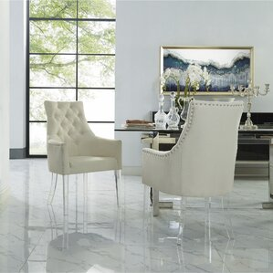 Hannatou Upholstered Button Tufted Dining..