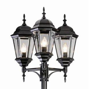 Lamp post lights youll love wayfair fairweather 3 light 98 post light aloadofball Choice Image