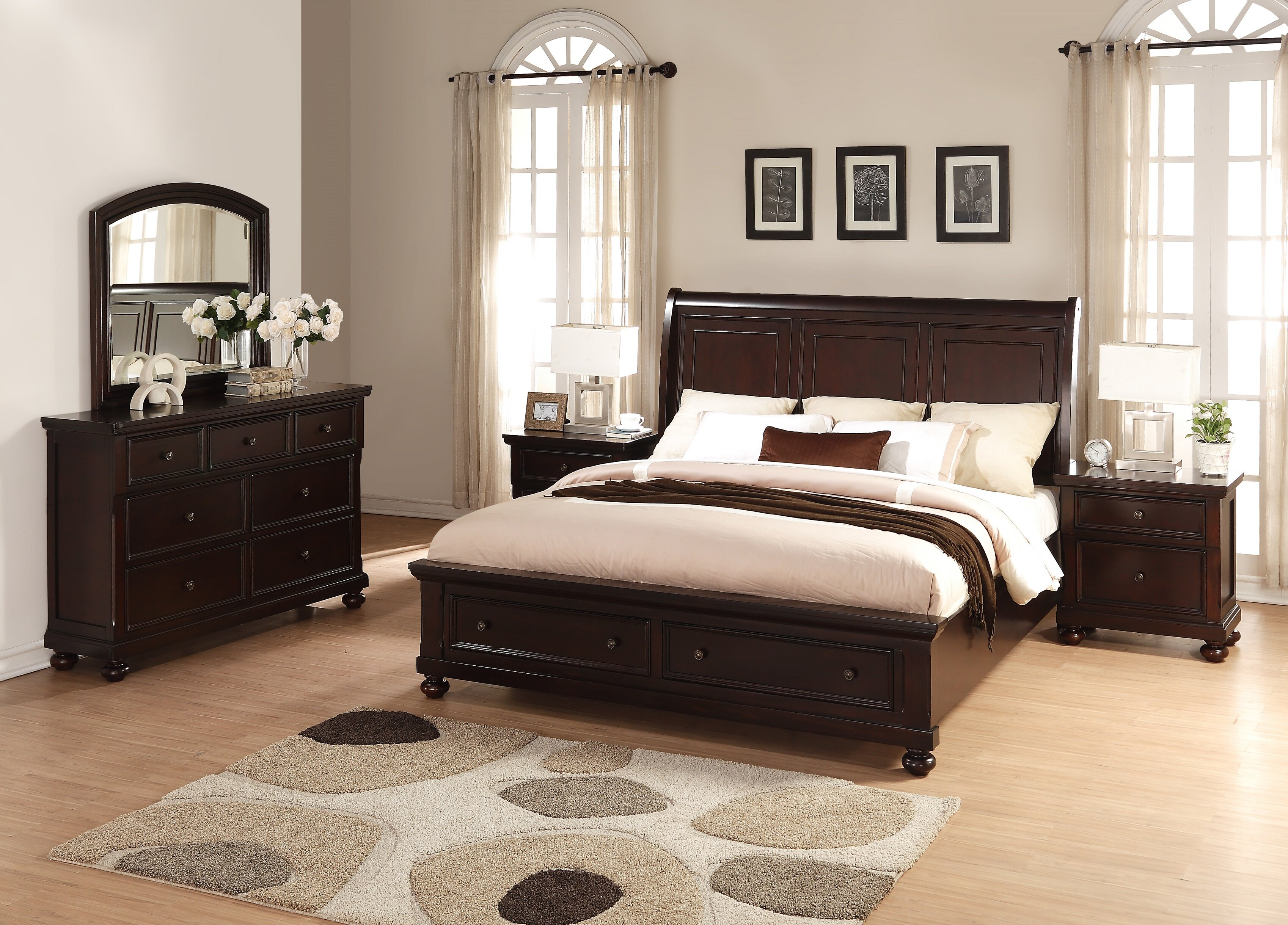 Perfect Roundhill Furniture Brishland King Platform 5 Piece Bedroom Set | Wayfair
