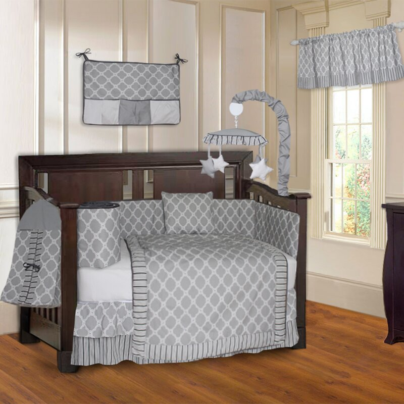 Harriet Bee Rollins 3 Piece Crib Bedding Set: Harriet Bee Holbæk Quatrefoil 10 Piece Crib Bedding Set