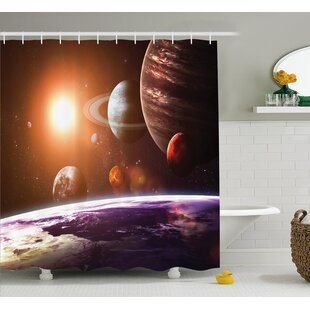 Space View Solar System Shower Curtain