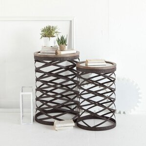 2-Piece Jamestown Side Table Set by Mercana