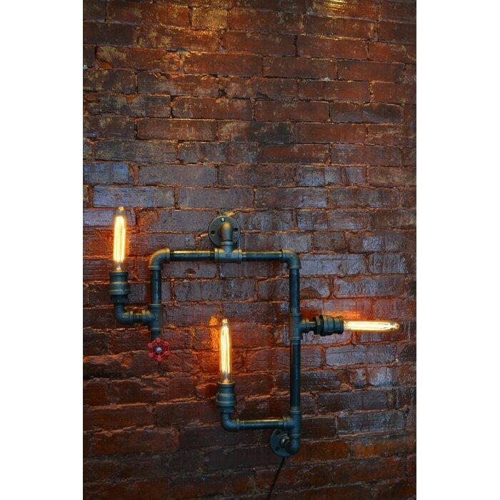 industrial pipe lighting. Steampunk 3-Light Industrial Pipe Wall Light Lighting