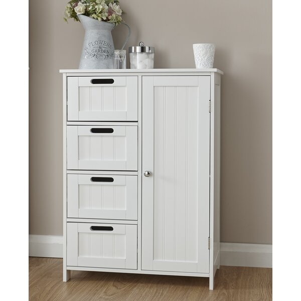 bathroom cabinets freestanding wayfair basics 55 x 82 cm badschrank amp bewertungen 11287