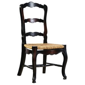 French Country Ladderback Solid Wood Dining Chair (Set Of 2)